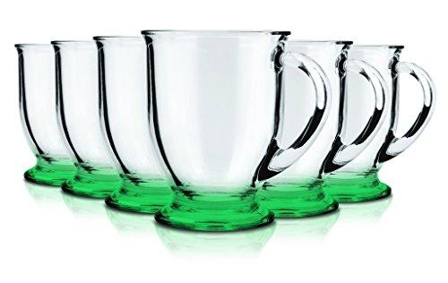 Anchor Hocking Café Glass Coffee Mugs 16 oz Set of 6