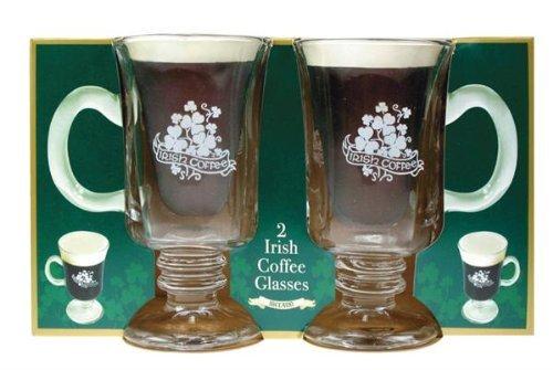 Irish Coffee Glasses with Handle Set of 2