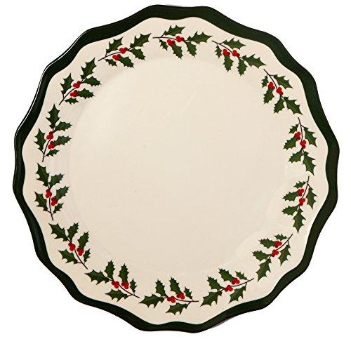 Melange 6-Piece 100 Melamine Dinner Plate Set Holly Collection   Shatter-Proof and Chip-Resistant Melamine Dinner Plates