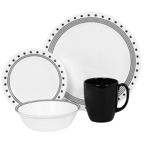 Corelle Livingware City Block 16-Pc Dinnerware Set