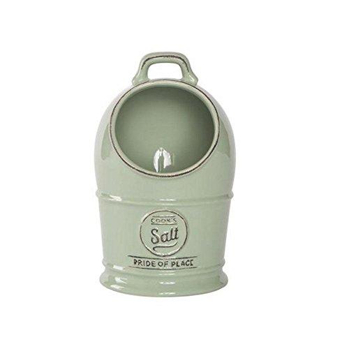 T G Pride of Place Salt JarCellar Old Green 18010