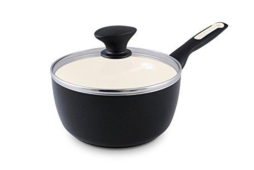 Greenpan Rio Ceramic Non-stick Covered Saucepan, 2 Quart, Black