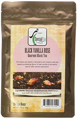 Special Tea Black Tea Bags Vanilla Rose 20 tea bags