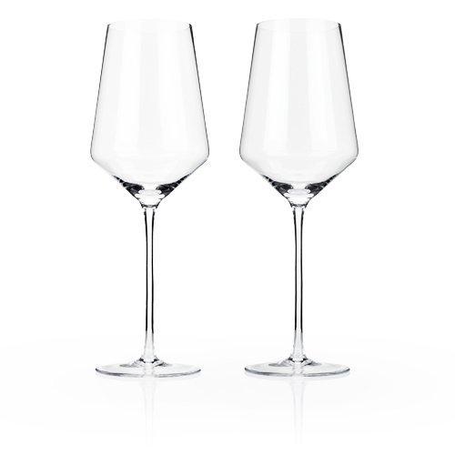Raye Crystal Bordeaux Glasses by Viski - Clear Set of 2