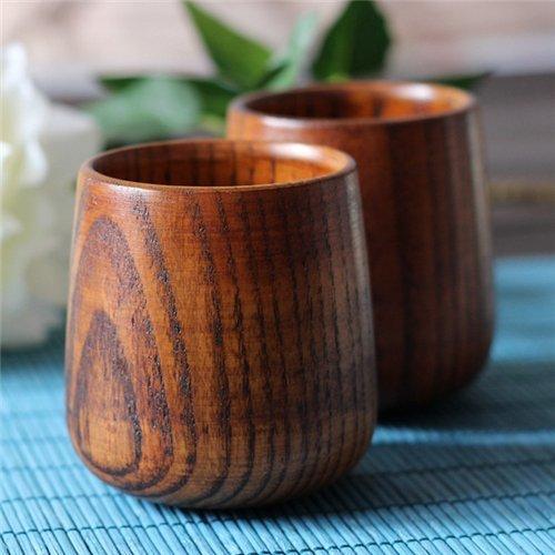 Stock Show 2Pcs ElegantFancy Jujube Wooden CoffeeTea CupsMugs