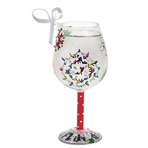 Santa Barbara Design Studio Lolita Holiday Wine Glass Ornament Mini Shop-A-Snowflake