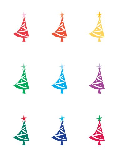 Wine Glass Decals by Wine Wear Christmas Tree - Best Holiday wine glass decoration wine marker set of 9