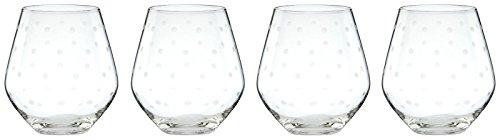 kate spade new york Larabee Dot Stemless Red Wine Glass Set of 4