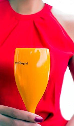 1 X Orange Veuve Clicquot Glas Flutes Glas Cup Champager Ice Imperial Moet Nikki Bach
