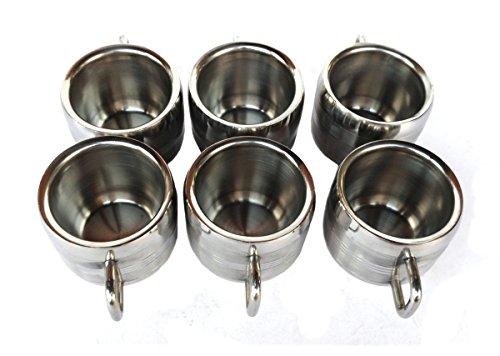 Rastogi Handicrafts Coffee Mug Desk Mug Double Insulated Drinking Cups for Children Double Wall Food Grade Durable Safe - 6 PACK