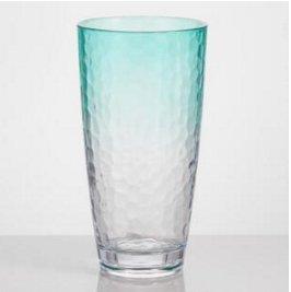 Acrylic Highball Drinking Glasses Set of 4 Drink-ware Ombre Aqua BPA Free