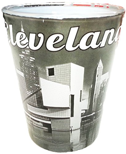 Cleveland Black and White Design Souvenir Shot Glass