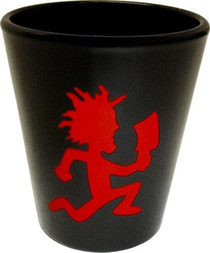 Insane Clown Posse - Red Hatchetman Logo on Black - Shot Glass  Shooter