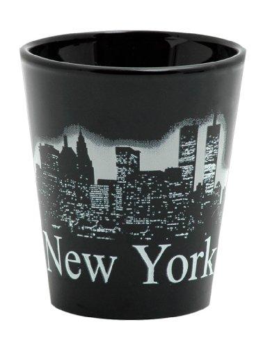 New York City Skyline Classic Black Shot Glass Microwave and Dishwasher Safe
