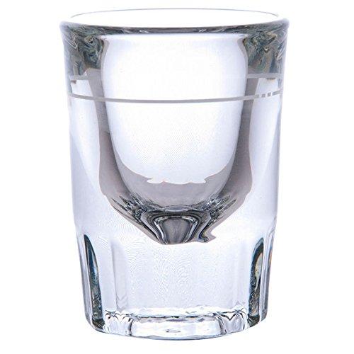 Libbey 5126A0007 Fluted Whiskey  Shot Glass 2 oz with 1 oz Capacity Line SET of 6 wBonus FDL Picks