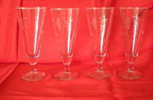 Princess House Set of Four Heritage Crystal Pilsner 7 12 Glasses