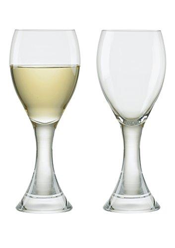 Anton Studio Manhattan Set of 2 White Wine Goblets Glasses