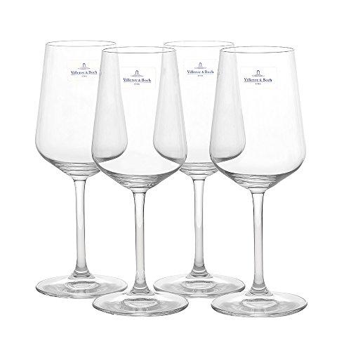 Villeroy Boch 4-Piece Ovid White Wine Goblet Set by Villeroy Boch