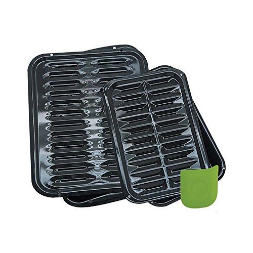 Rangekleen Home Kitchen Gadgets Cooking Utensils 5 Piece Porcelain Broiler Pan Set
