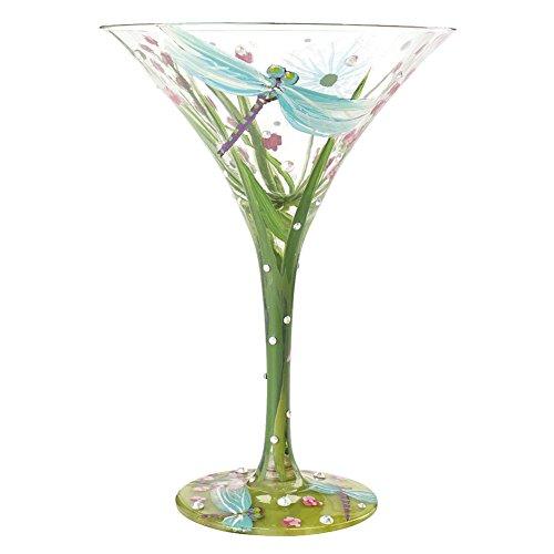 Lolita by Enesco Dragonfly Martini Glass
