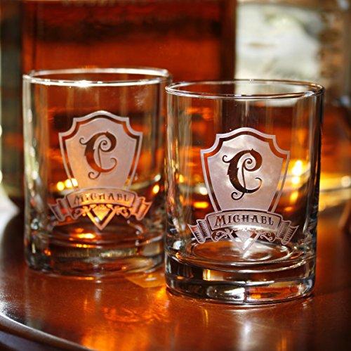 Engraved Whiskey Scotch Bourbon DOF Cocktail Glasses SET OF 16 M30