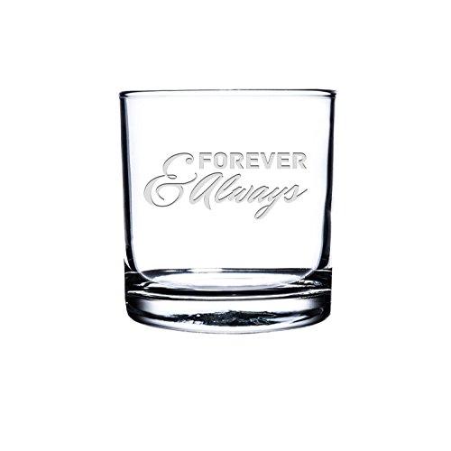 Etched Scotch GlassPersonalized Rocks Glass Custom Whiskey Glass Engraved Bourbon Glass Love Quote scotch Glasses