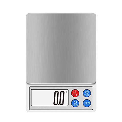 Digital Kitchen and Food Scale 2000g 3000g Next-shine High-precision Pocket Scale Multi-functionals Pro Scale with LCD Display Tare PCS Back-lit 2000g
