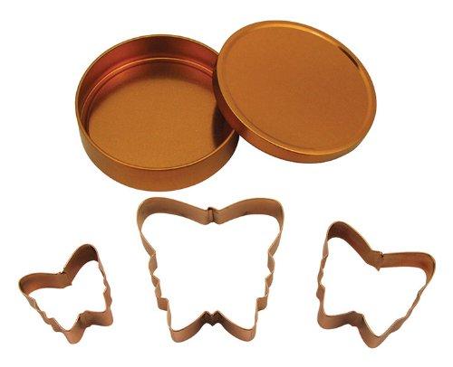 Fox Run Brands 21002 Copper Butterfly Cookie Cutter Set