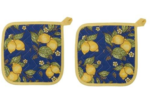 Now Designs Basic Potholders Provencal Yellow Set of 2