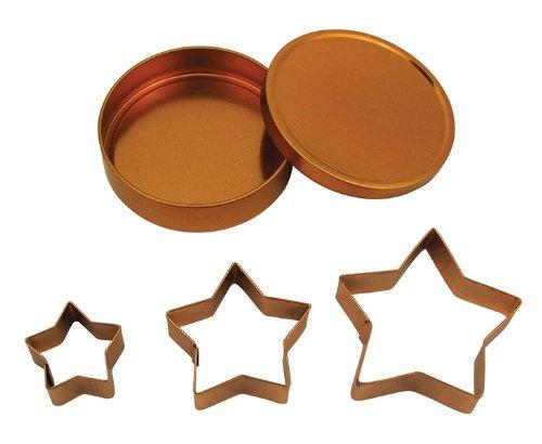 Fox Run Brands 21006 Copper Star Cookie Cutter Set