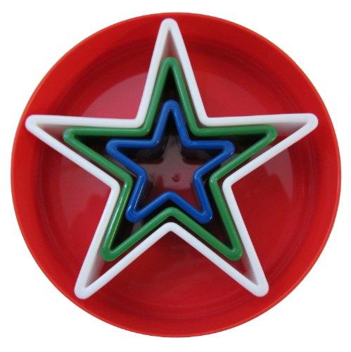 Global Decor Star Cookie Cutter Set 3 Piece Set