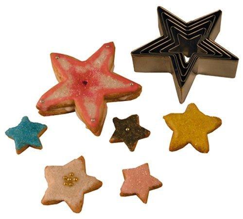 R M International 1988 5-Piece Star Cookie Cutters Set by R&M