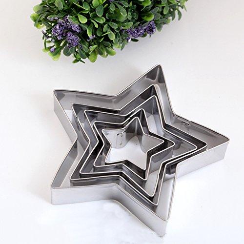 SK Star Cookie Cutter Set Stainless Steel 5-Piece