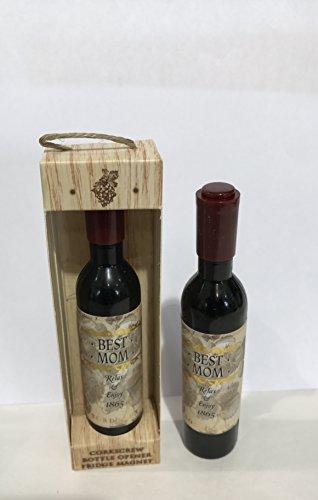 The Wine Cellar Bottle Opener Corkscrew ~ BEST Mom ~ Corkscrew Bottle Opener Fridge Magnet