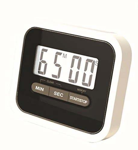 SMYLLS Delicate Digital Kitchen Timer With Magnetic Back And Retractable Stand Various Colors black