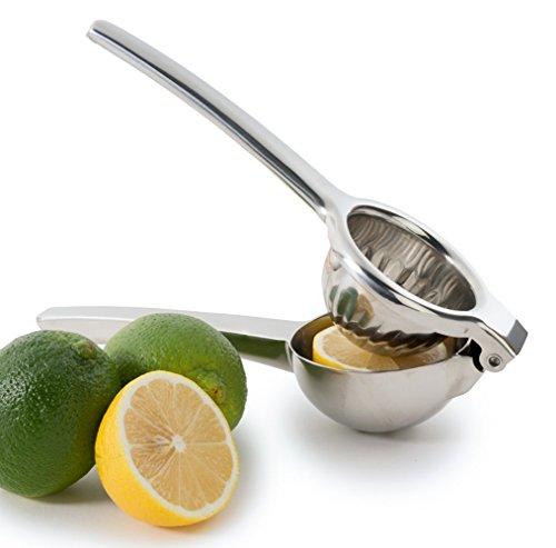 Chefs Star Jumbo Citrus Juicer Lemon Squeezer - Stainless Steel - Lime Squeezer - Orange Squeezer - Dishwasher Safe