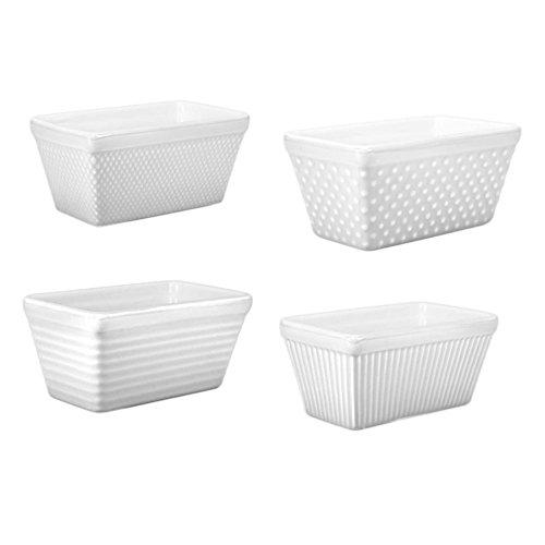 BIA White Porcelain Mini Loaf Pan Set of 4