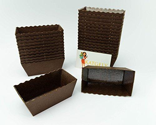 Katgely Dark Brown Mini Loaf Mold Pack of 100