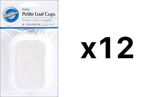 Wilton Mini Loaf Baking LinerCups White 50 Pack BreadMuffinsCake 12-Pack