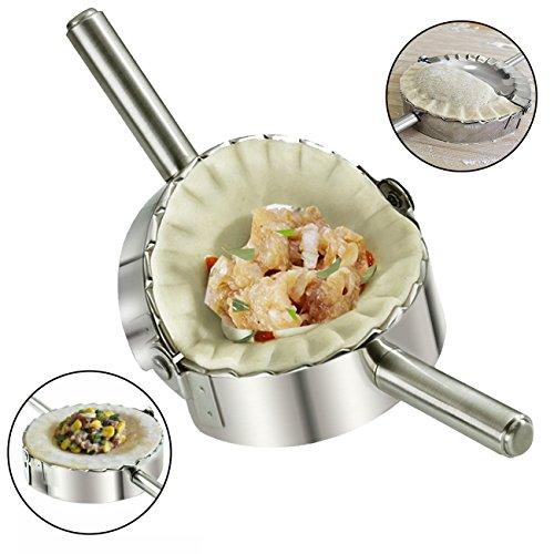 Home Servz Food Grade 304 Stainless Steel Ravioli Maker Pierogi Dumpling Mold - Dough Press Cutter - Pie Crimper Kitchen Wrapper Pastry Tool(5 inch)