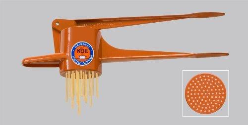Original Kull Spaetzle-Schwob ORANGE Spaetzle Press  Spaetzle Maker - suitable for dishwasher PREPARE OWN PASTA  NOODLES IN A FEW MINUTES Incl Spaetzle Recipe Also high-quality POTATO RICER
