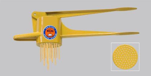 Original Kull Spaetzle-Schwob YELLOW Spaetzle Press  Spaetzle Maker - suitable for dishwasher PREPARE OWN PASTA  NOODLES IN A FEW MINUTES Incl Spaetzle Recipe Also high-quality POTATO RICER