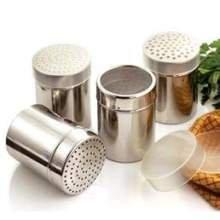 World Cuisine Paderno Stainless Steel Sugar Dredger Mesh Top 14 Quart -- 2 per case