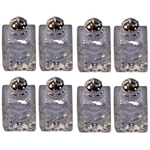 Elegance SP Pressed Glass Mini Salt Pepper Shakers Set of 8