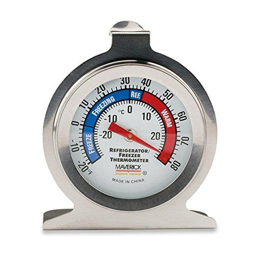 Maverick Housewares RF-01 Redi-Chek RefrigeratorFreezer Thermometer Silver