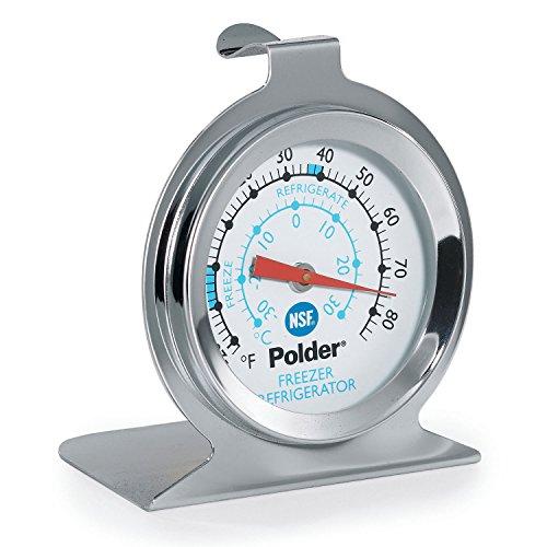 Polder THM-560N RefrigeratorFreezer Thermometer Stainless Steel