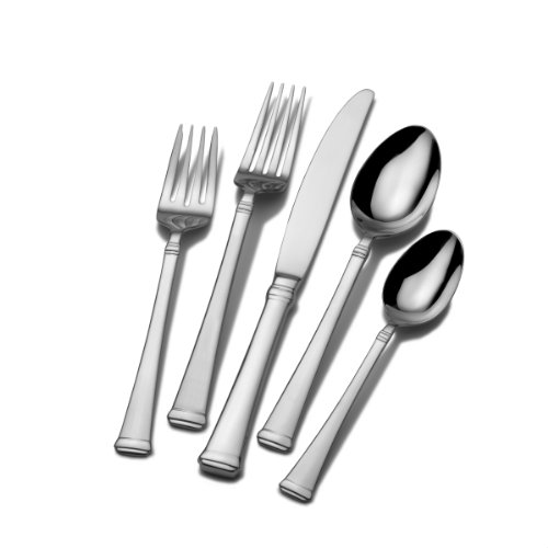 Mikasa Harmony 65-Piece Stainless Steel Flatware Set with Serveware Service for 12
