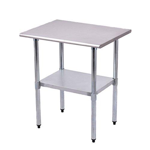 Goplus Stainless Steel Work Table Prep Work Table for Commercial Kitchen Restaurant 24 x 30