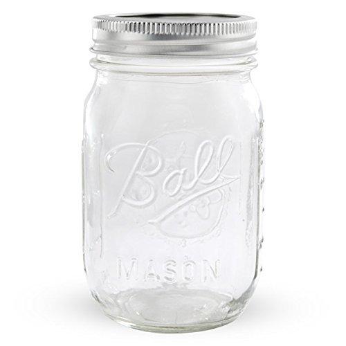 1 Ball Mason Jar With Lid - Regular Mouth - 16 Oz