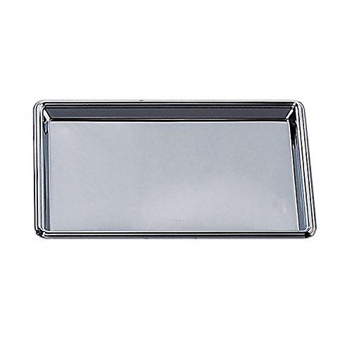 Elegance Silver 82533 Rectangular Nickel Plated Serving Tray 8 x 12